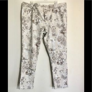 Merona Plus Size Floral Print High Waisted Jeans